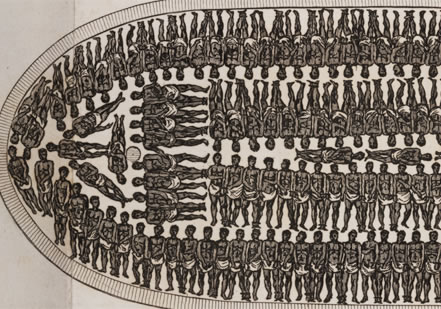 Diagram of African slave ship
