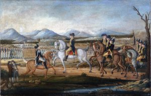 painting of Whiskey Rebellion