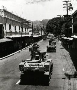 tanks on Beretania Street