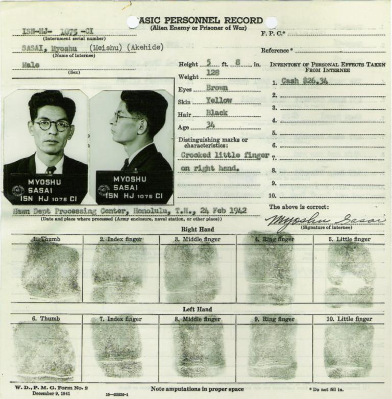 ID Card of Myoshu Sasai