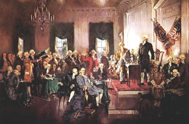 Painting of signing of the Constitution