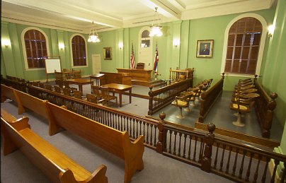 view of 1913 Courtroom